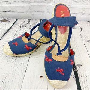 Ralph Lauren Canvas Sandals Size 7